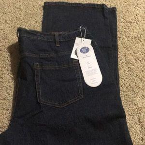 Diane Gilman Size 18W Dark Denim Jeans